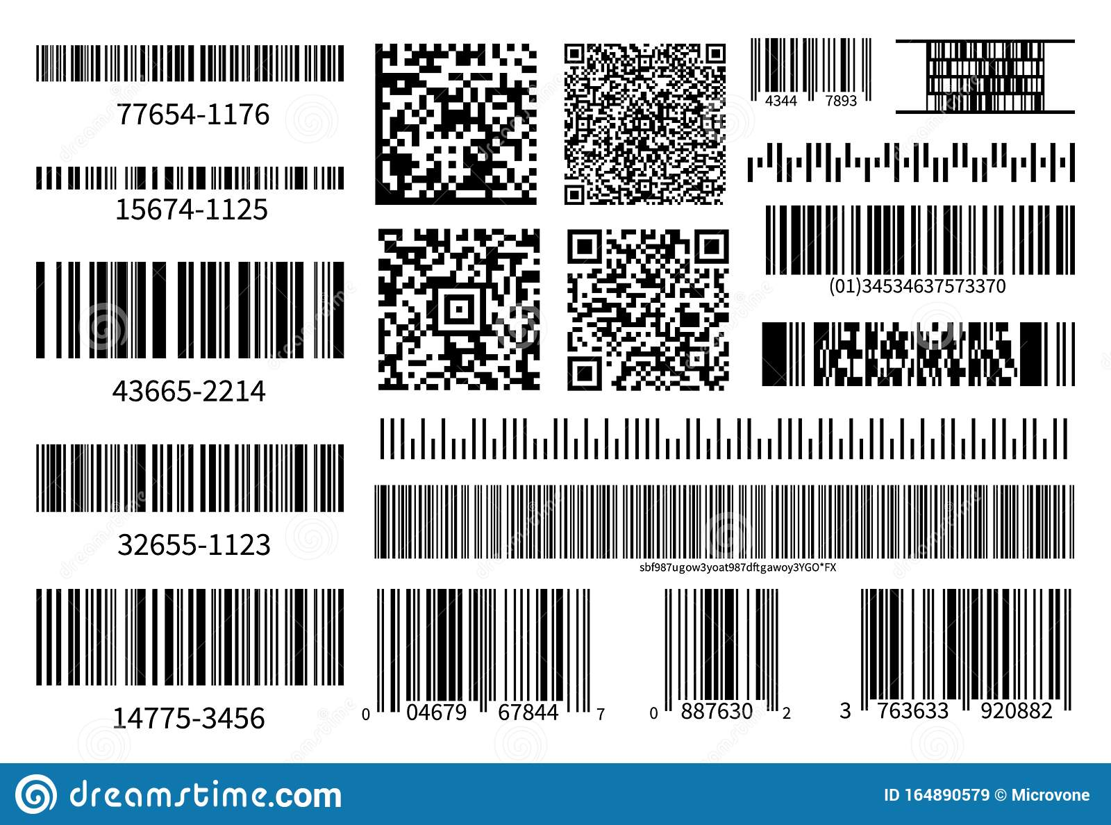 collection in store coupons barcodes collection vector code information qr store