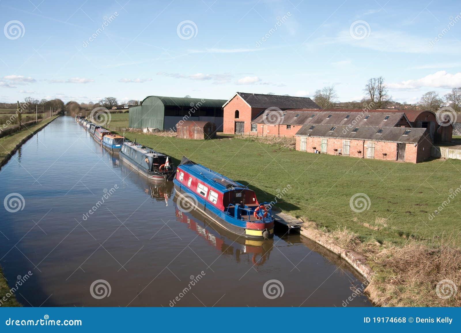 Barcos de casa del canal