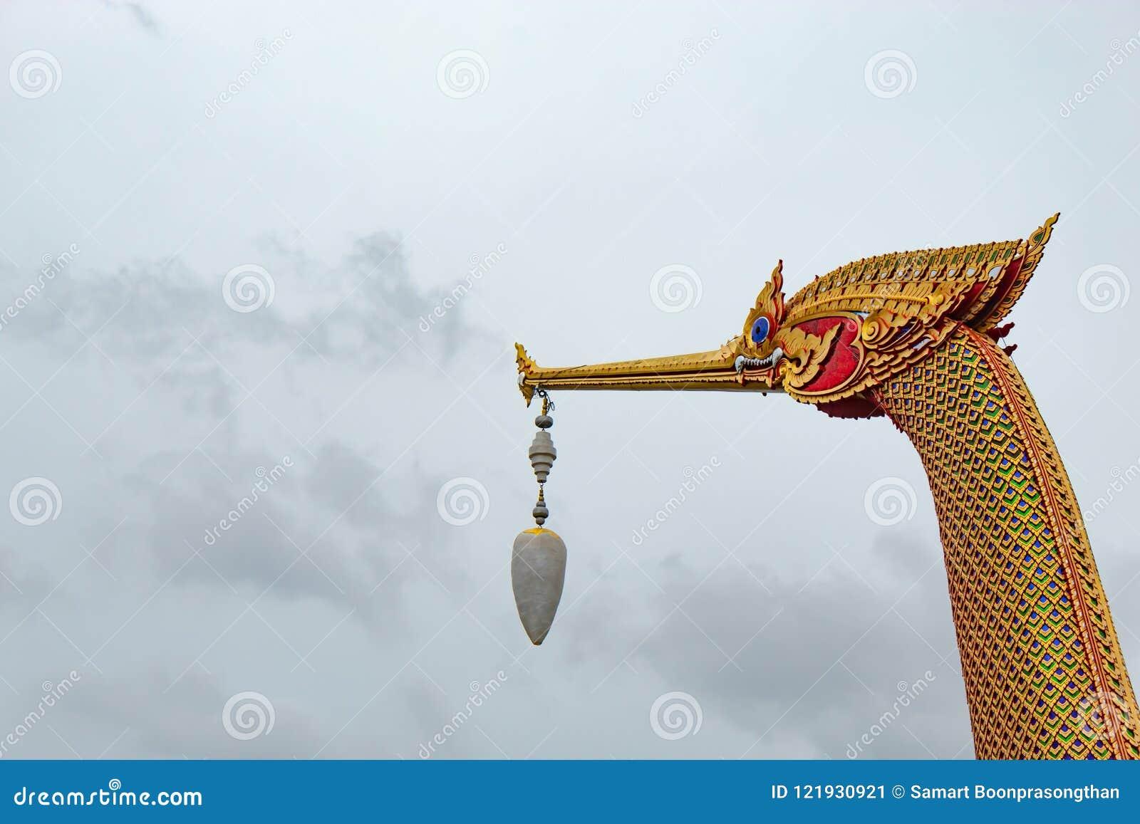 Barcos de oro del cisne en el nonthaburi
