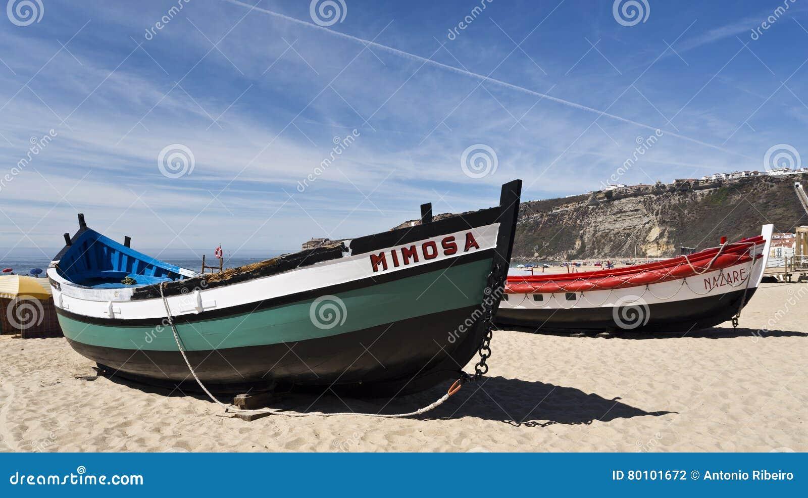 Barcos de pesca de Nazare
