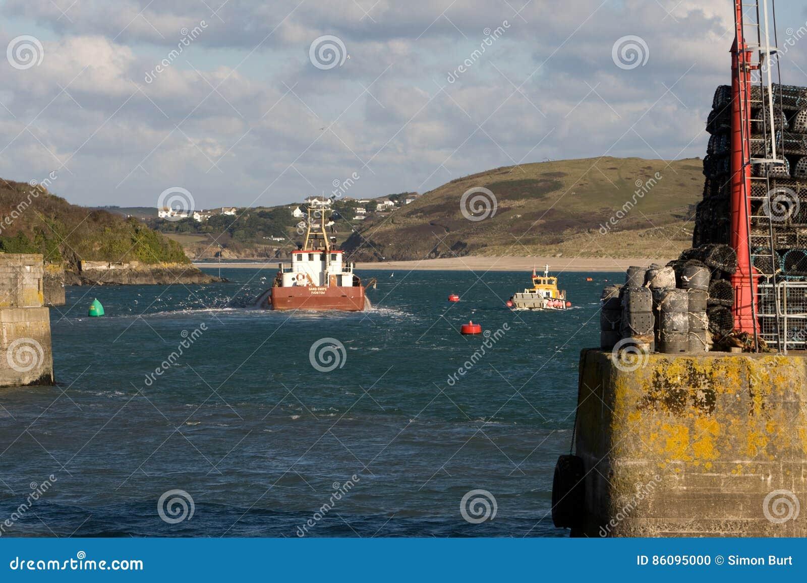 Barcos de pesca del puerto de Padstow
