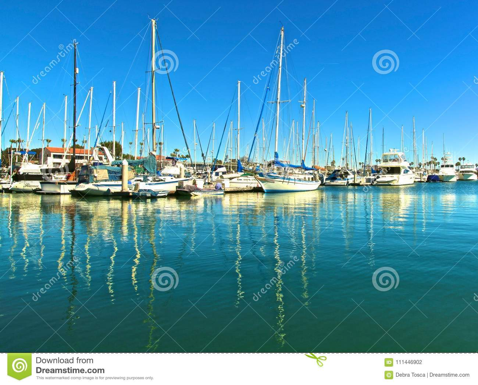 Barcos de vela en puerto deportivo
