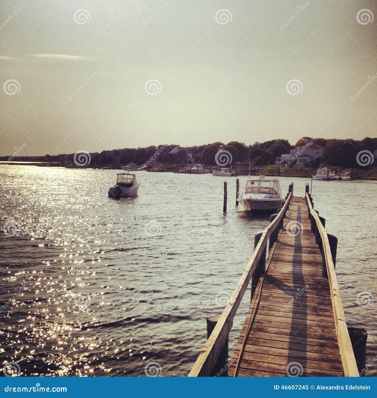 Barcos del muelle (Cape Cod)