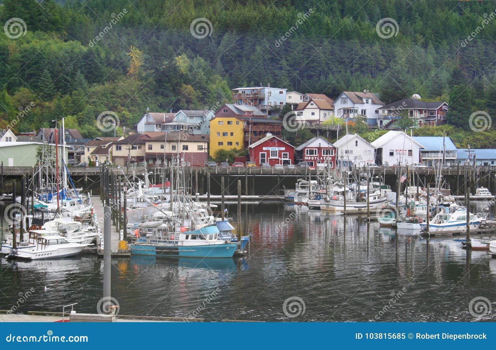 Barcos do porto de Ketchikan Alaska