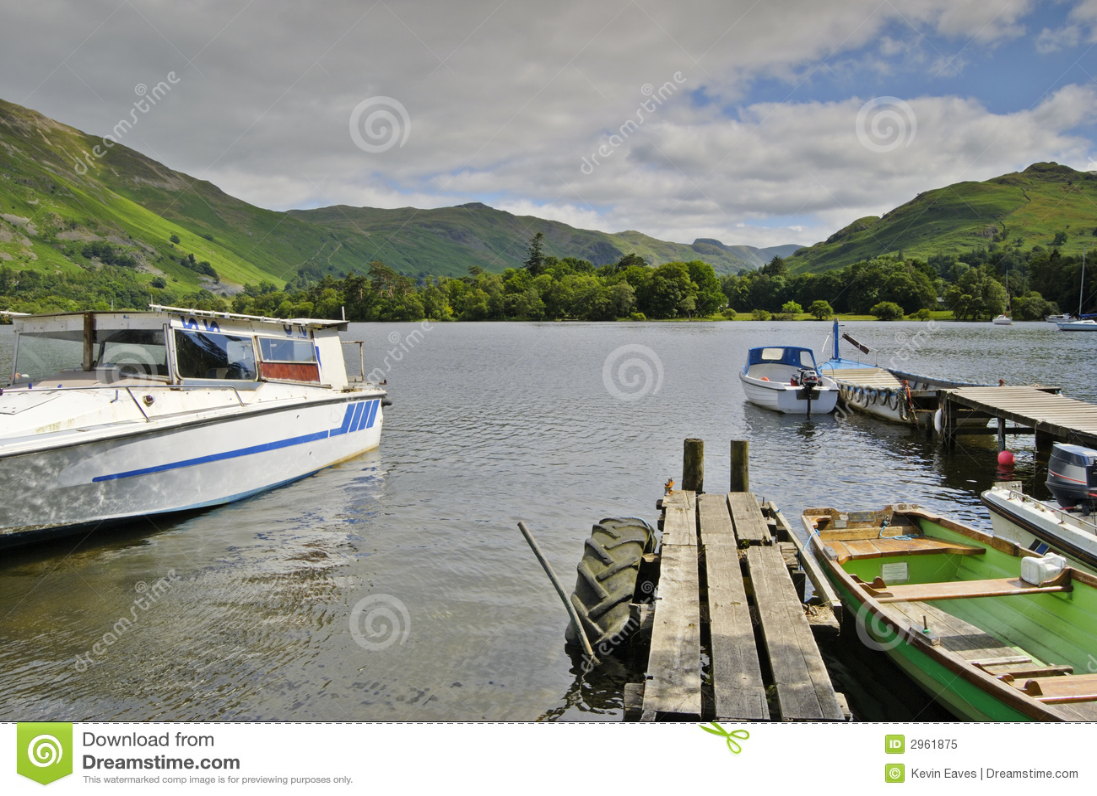 Barcos em Ullswater