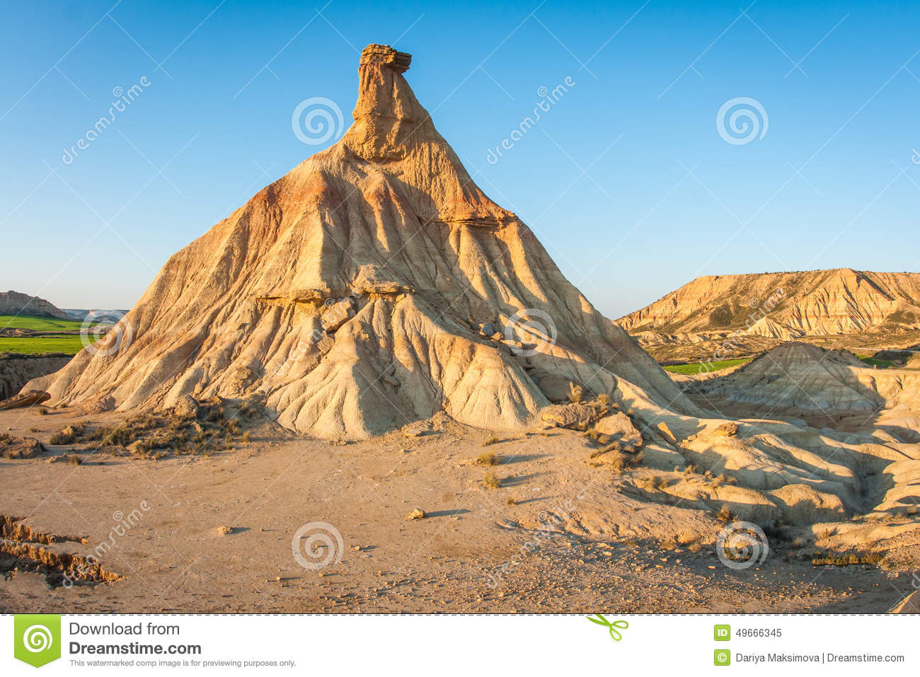 bardenas reales navarra spain unusual unique landscape 49666345