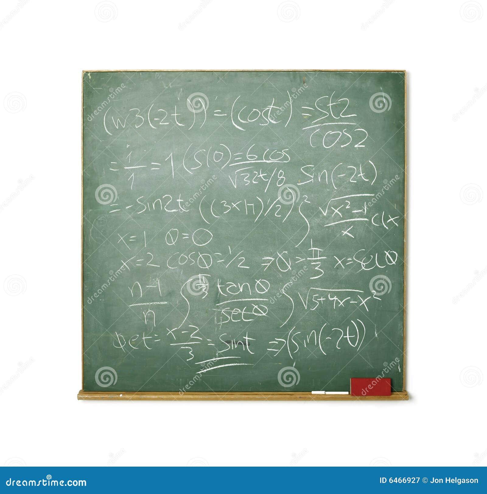 Bardzo odosobnione tablicy matematyki white