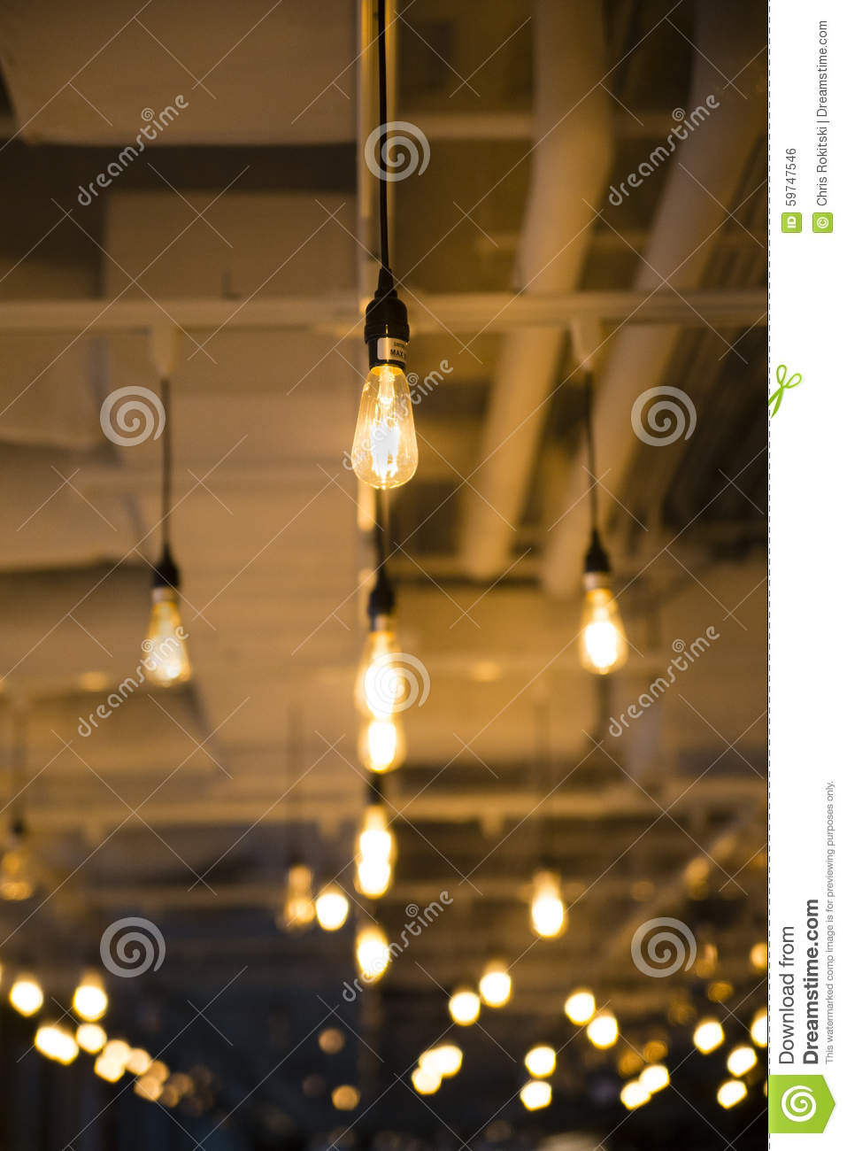 bare bulb ceiling lights stock photo image of interior 59747546