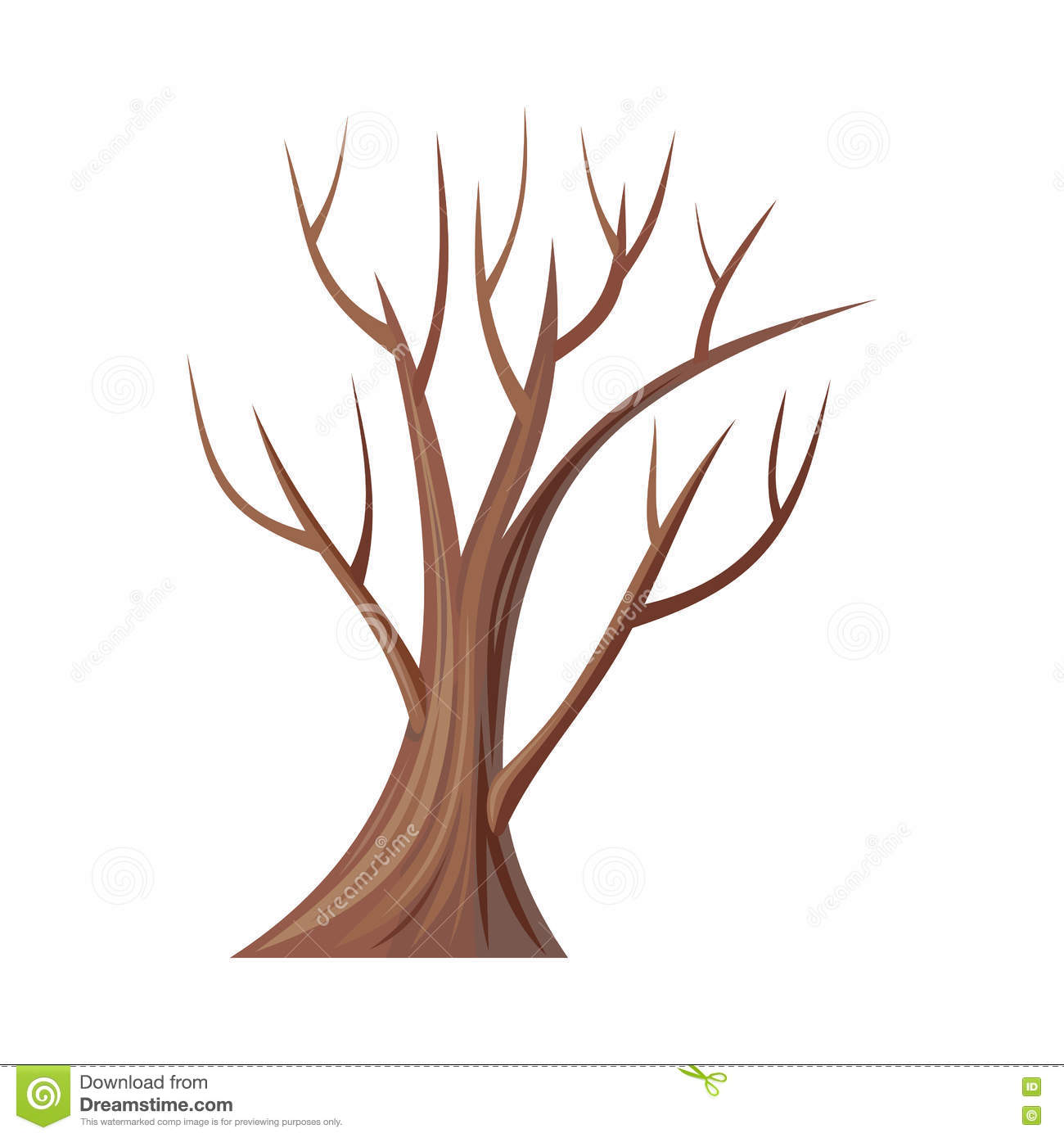 bare tree without leaves. oak. vector stock vector