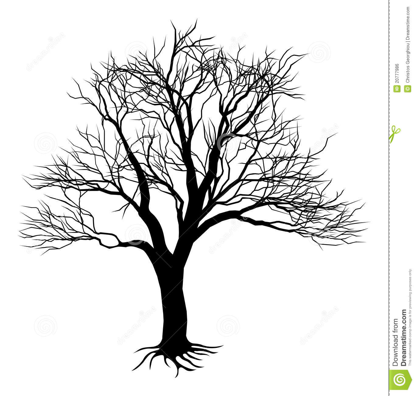 Bare Tree Silhouette Stock Vector Image Of Background