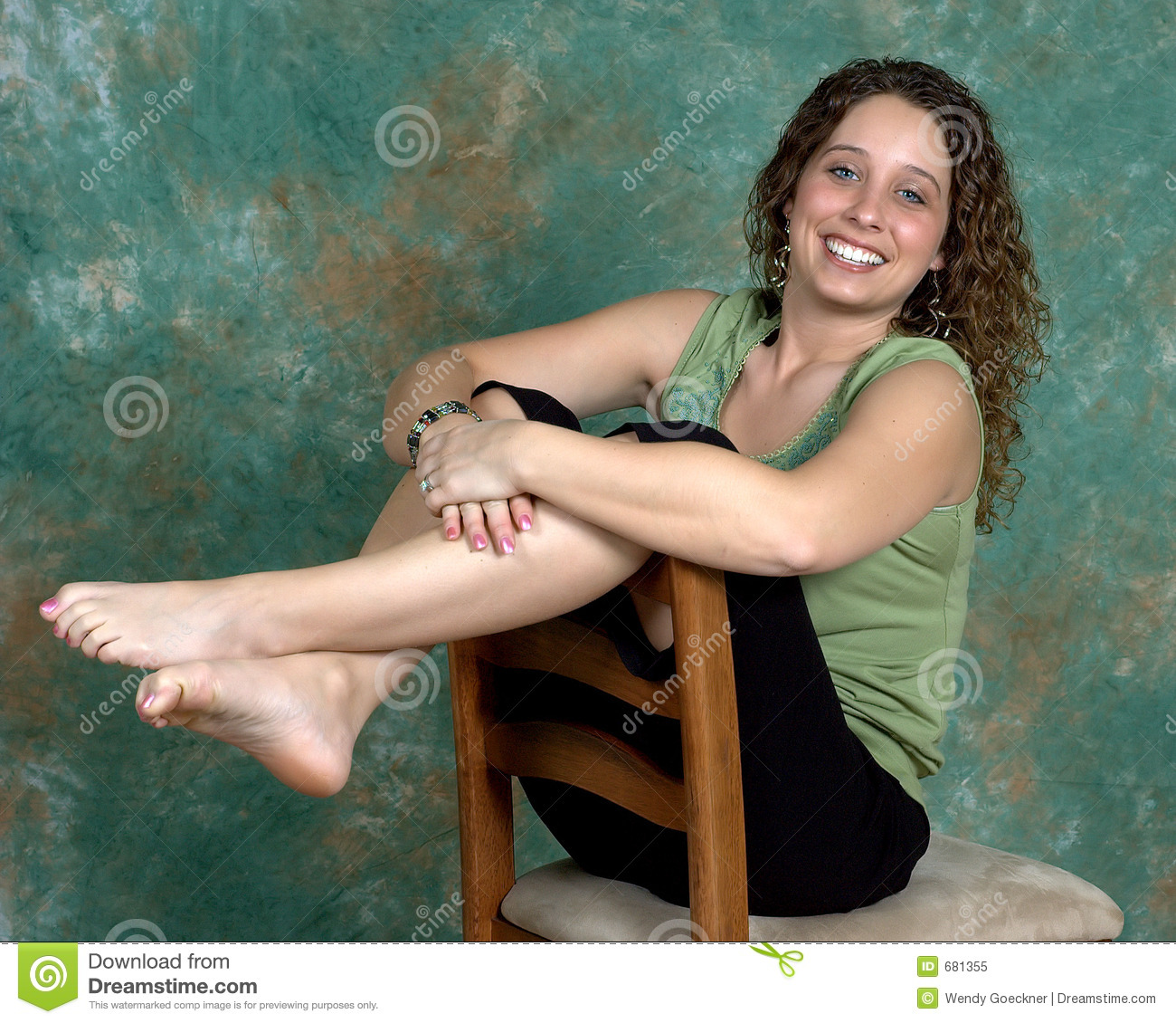 barefoot stock image. image of barefoot, curlytop, hair - 681355