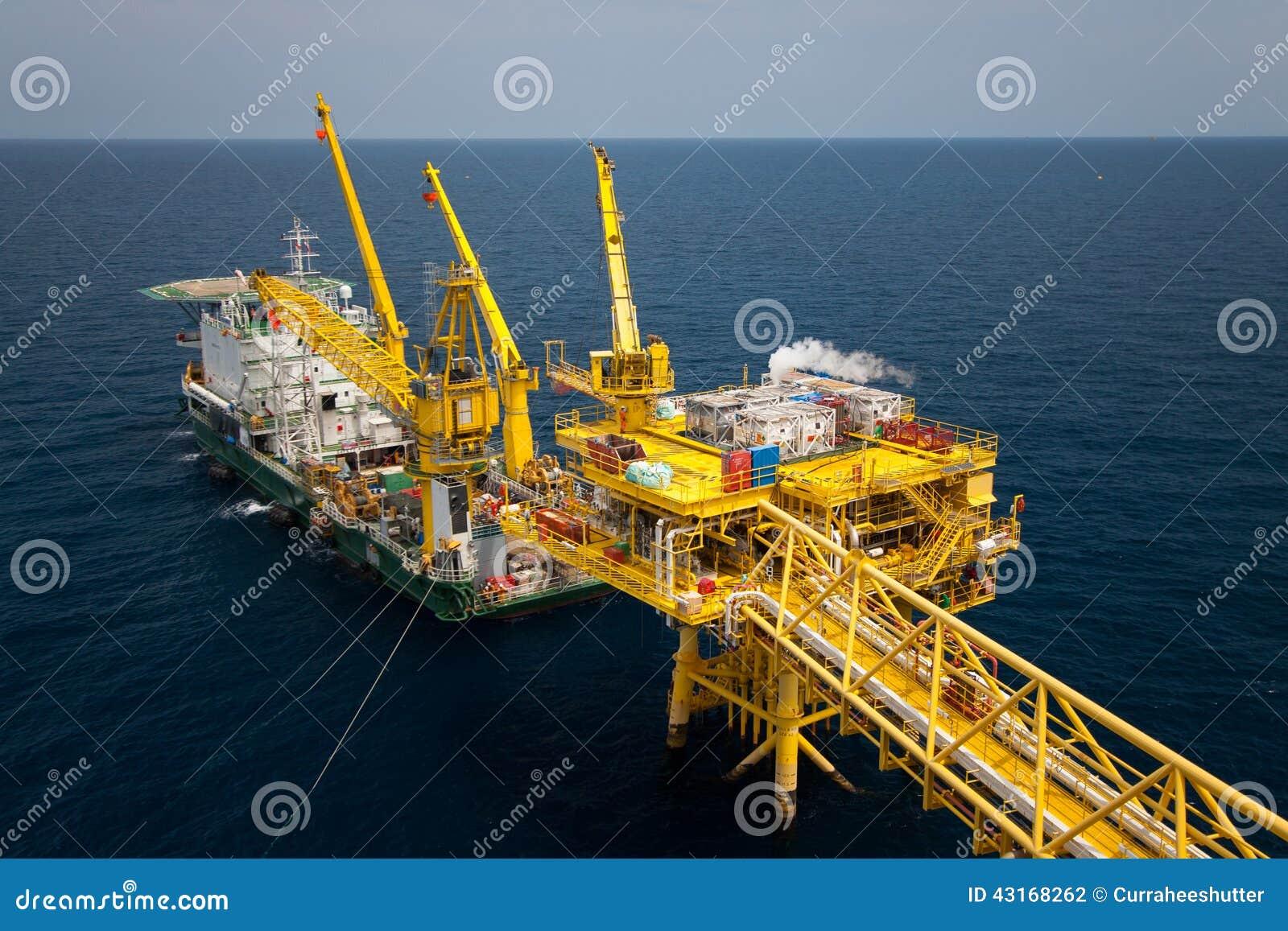 Barge la piattaforma dell installazione in petrolio marino e l industria del gas, fornisce il lavoratore di sostegno della chiatt