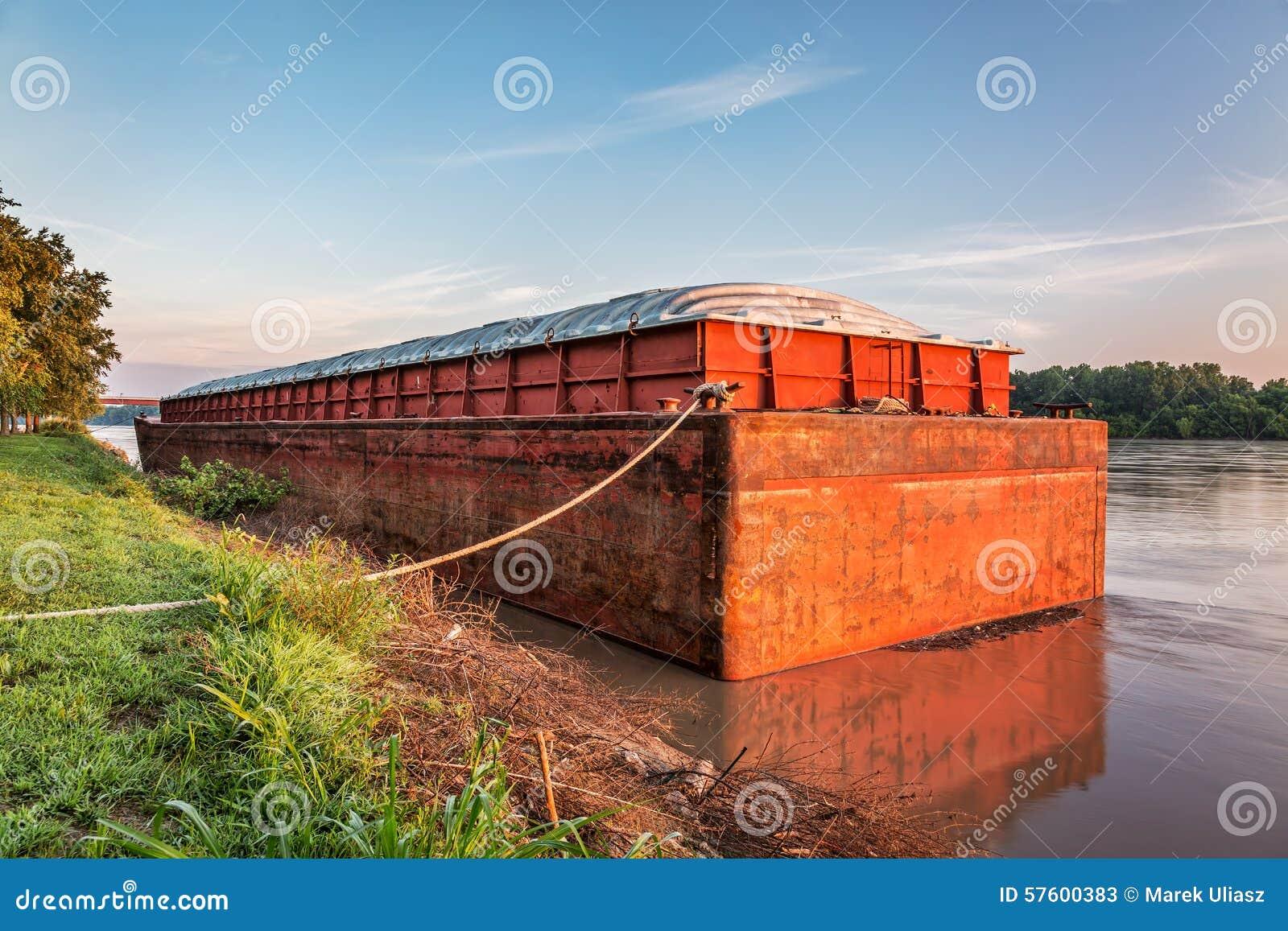 barge on missouri river stock image image of ship rusty 57600383