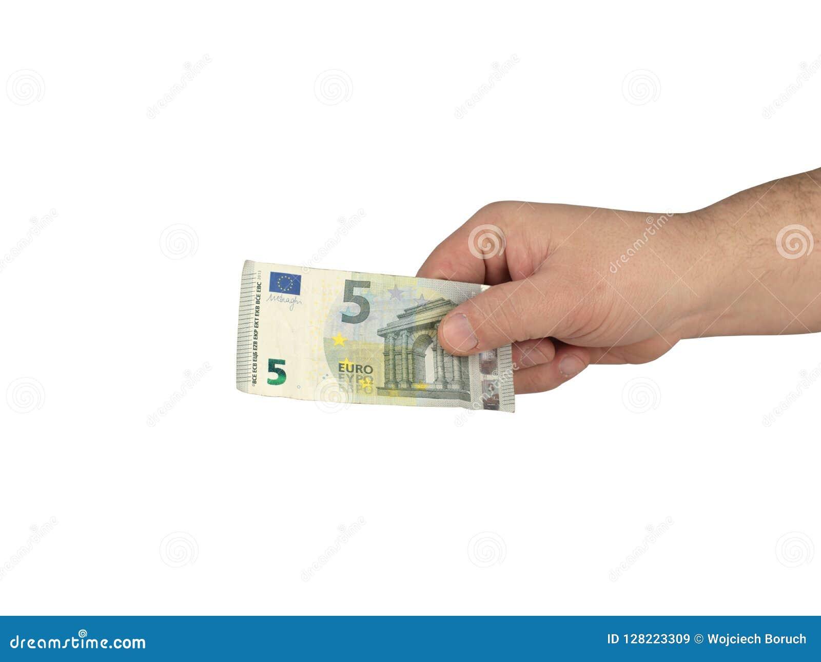 Bargeld auf der Hand