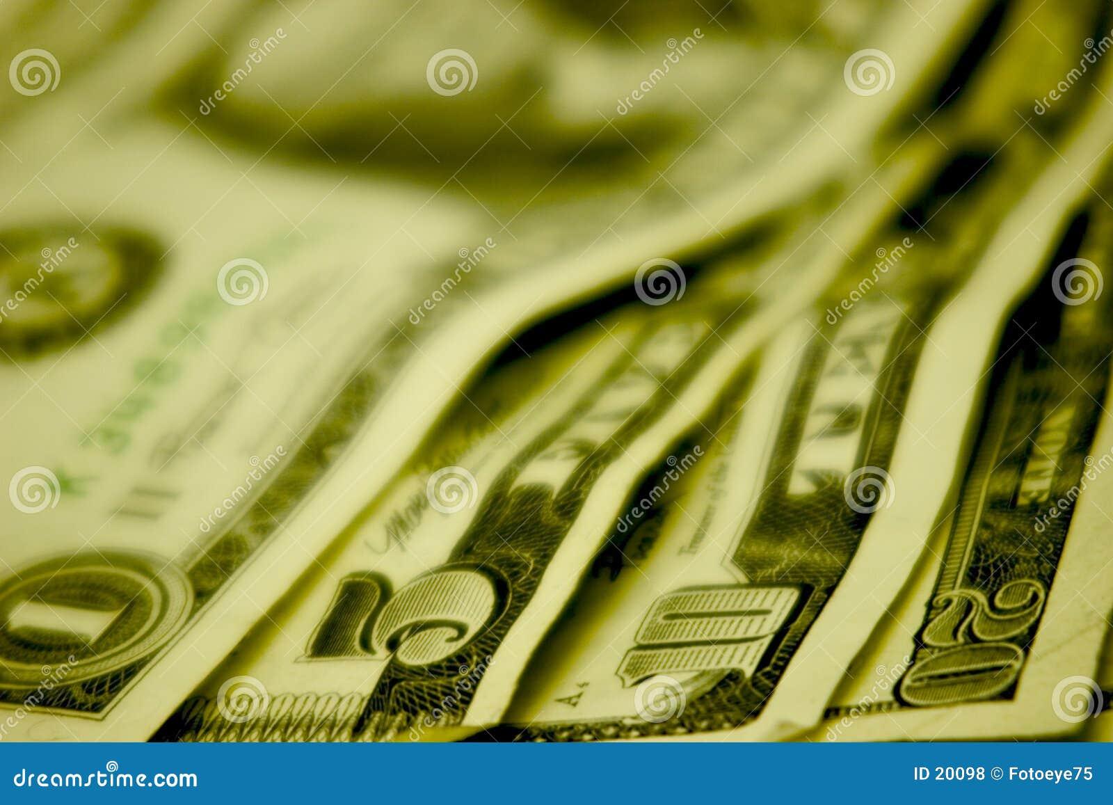 Bargeld auf der Tabelle