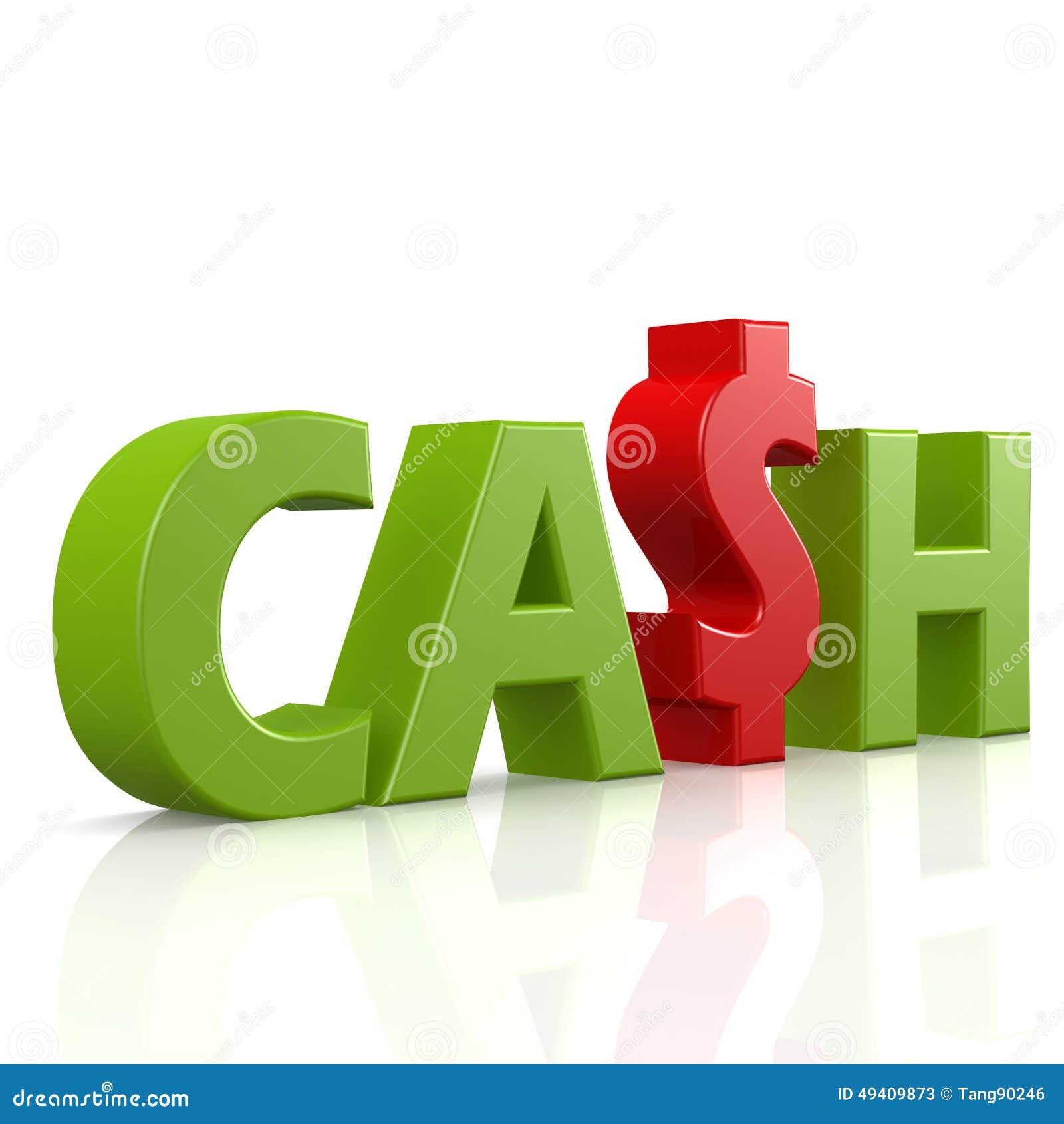 Download Bargeldwort im Grün stock abbildung. Illustration von investition - 49409873