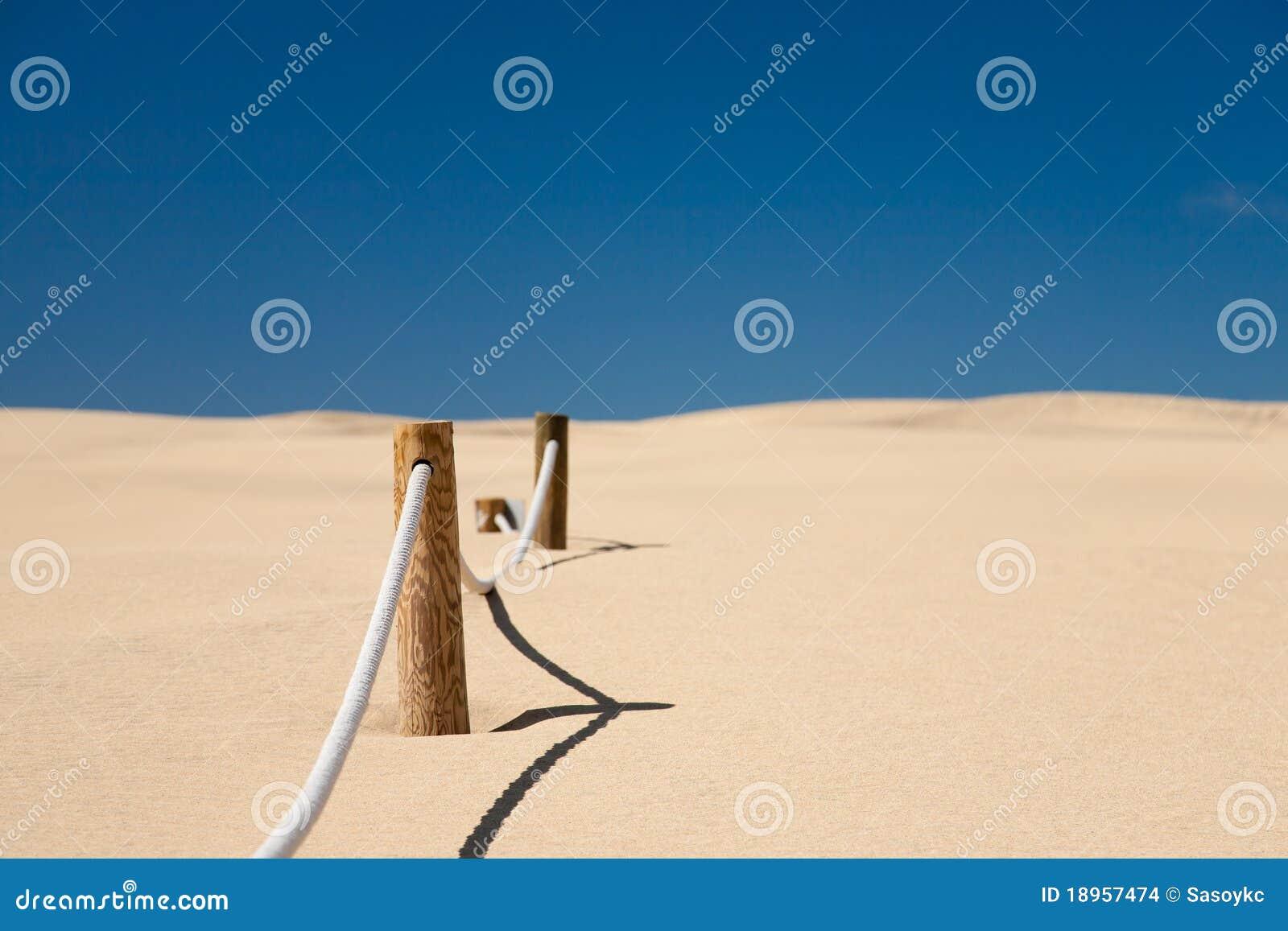 Bariery sznura pustynia