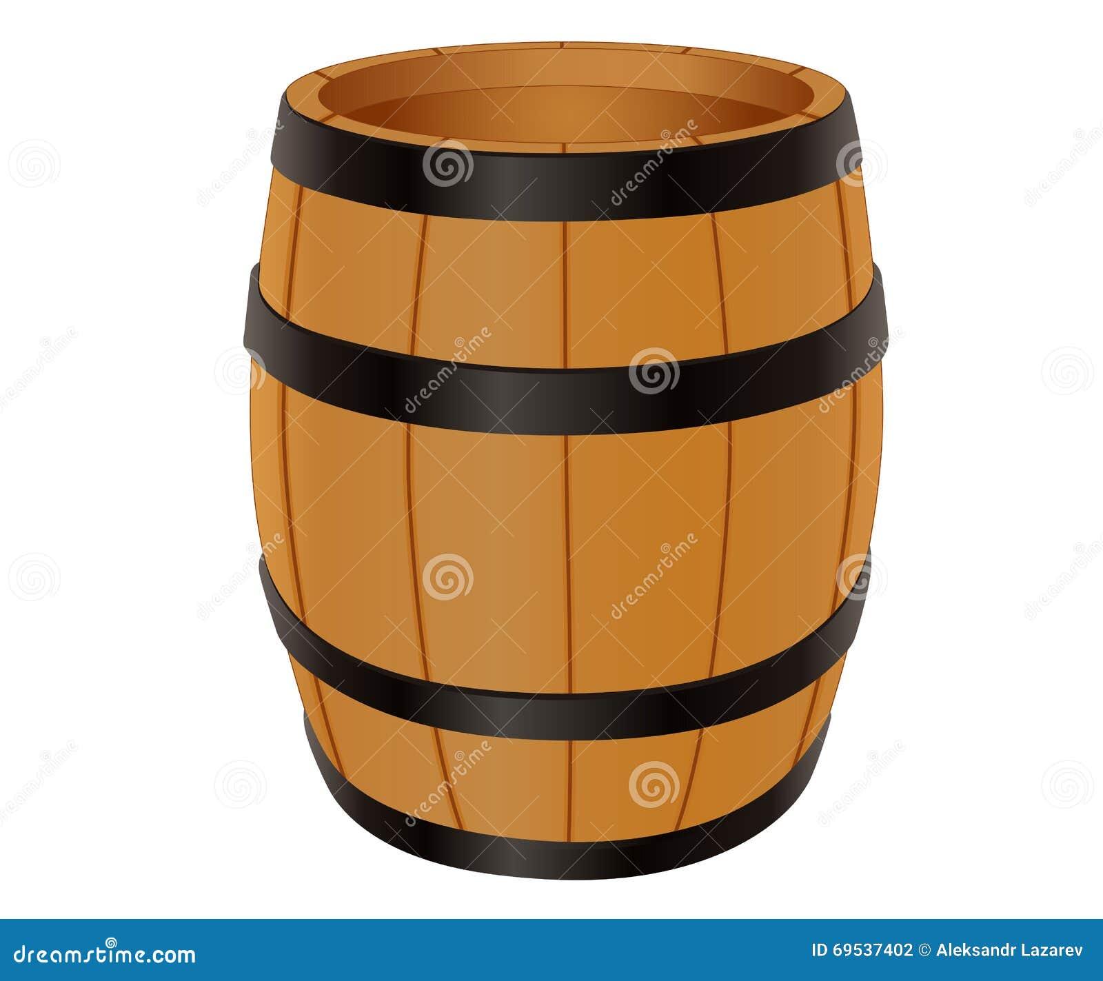 Barilotto di legno vuoto