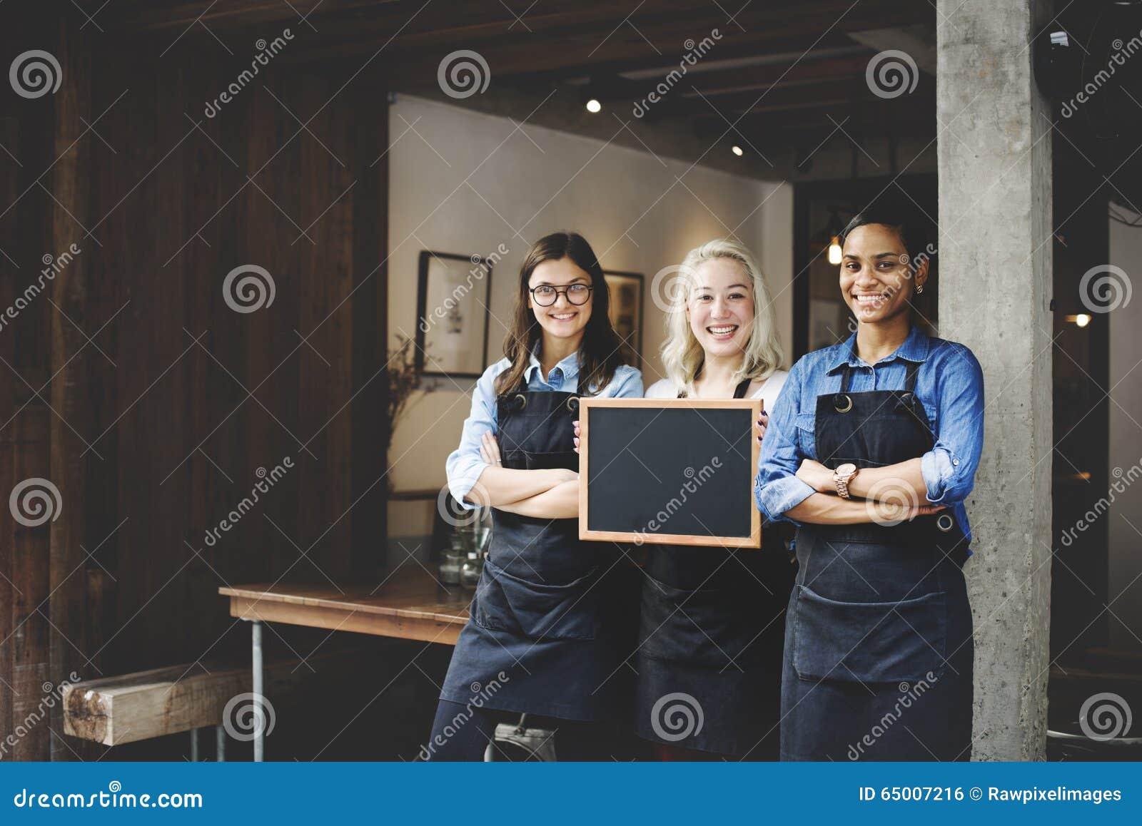 Barista Coffee Shop Concept di associazione degli amici