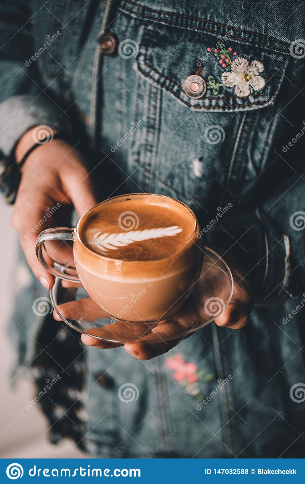The barista and the latte