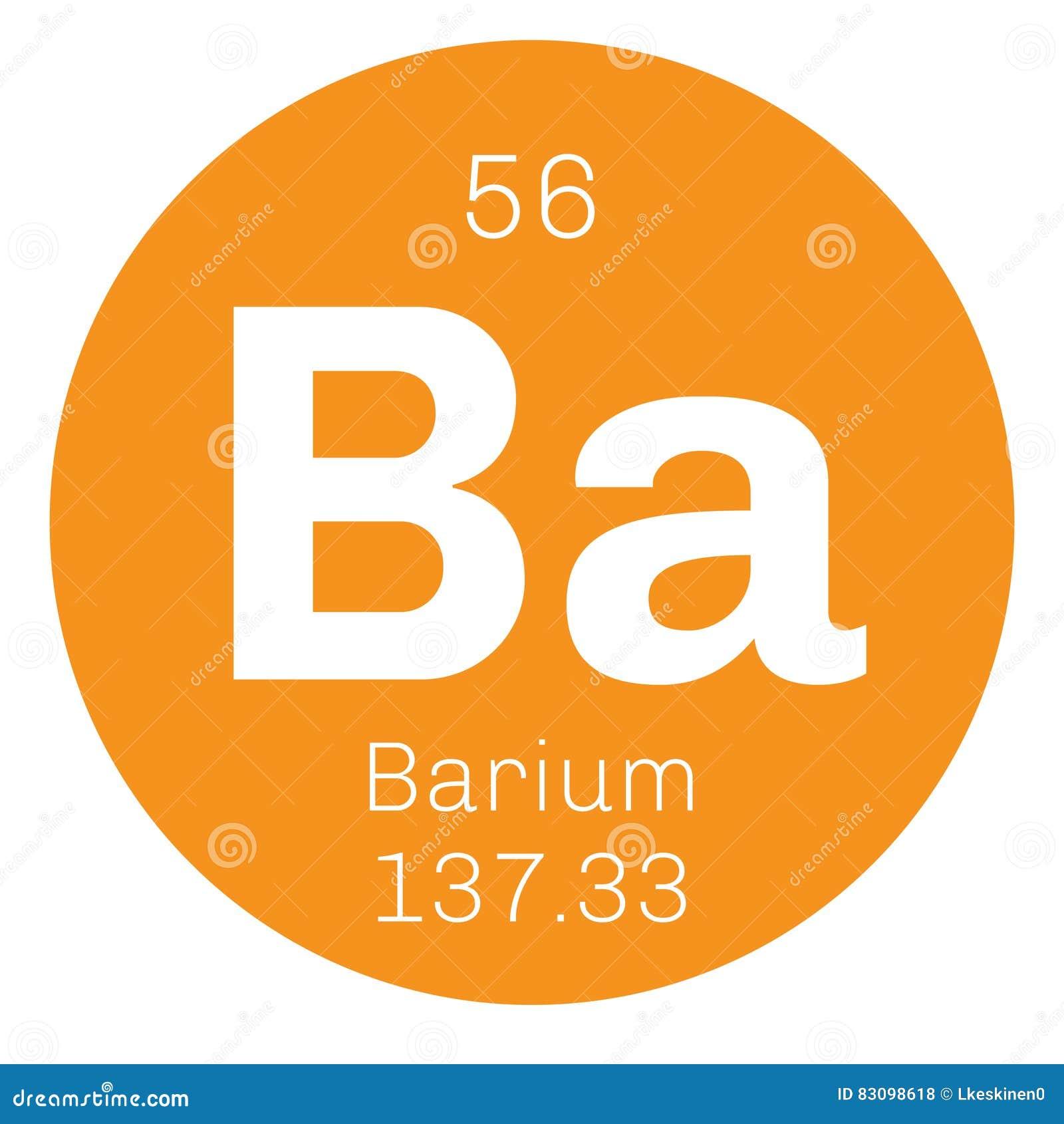 Barium Chemical Element Stock Vector Illustration Of Atomic 83098618