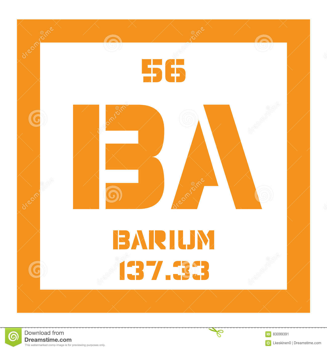 Barium Chemical Element Stock Vector Illustration Of Atomic 83099391