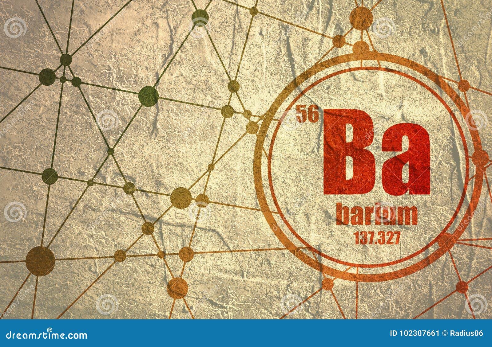 Barium Chemical Element Stock Illustration Illustration Of