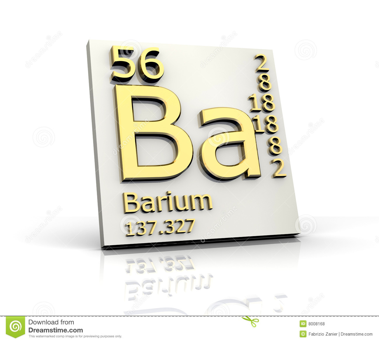P Periodic Table >> Barium Form Periodic Table Of Elements Stock Illustration - Image: 8008168