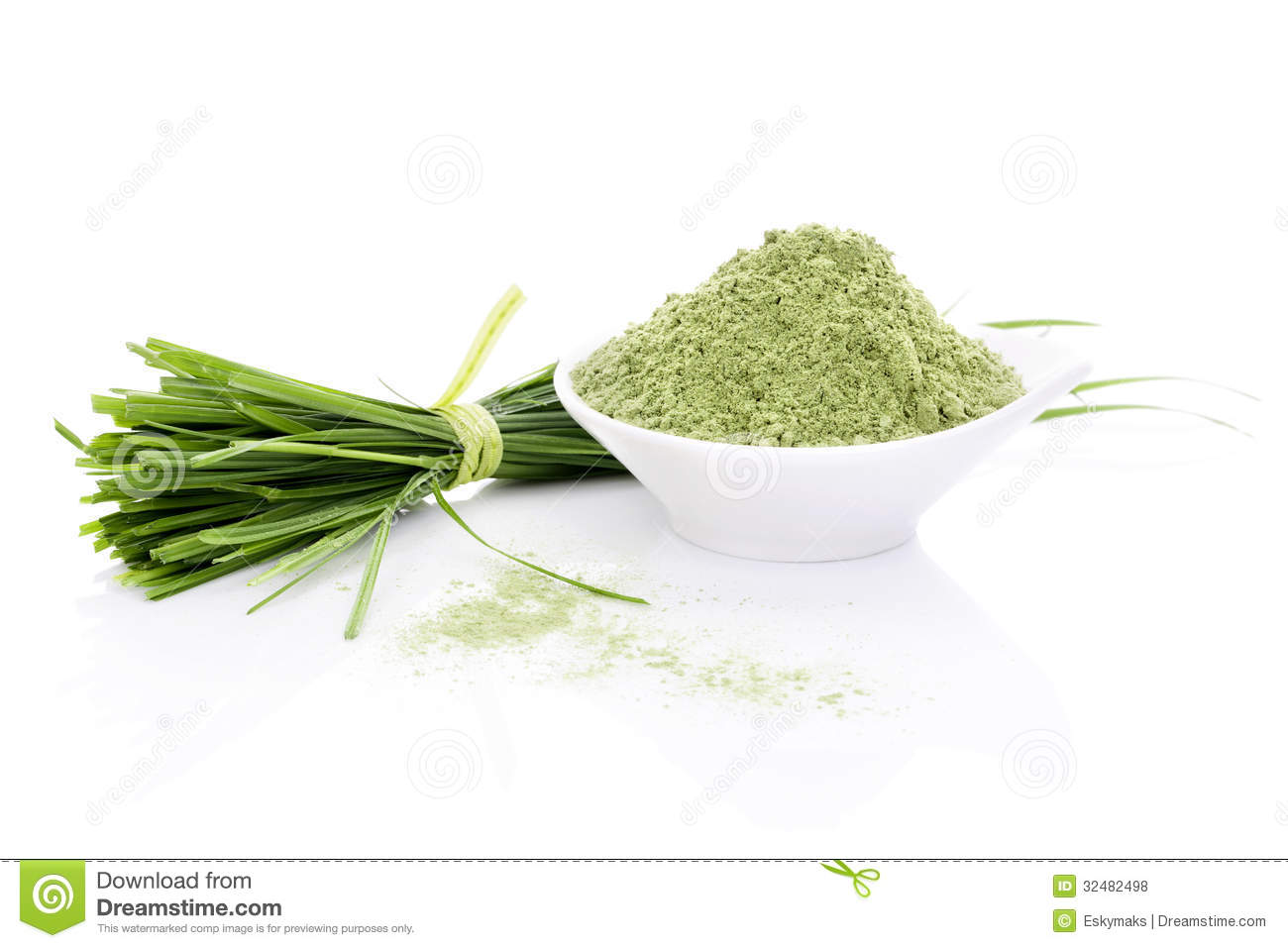 ... on white background. Green foods. Natural organic healthy living