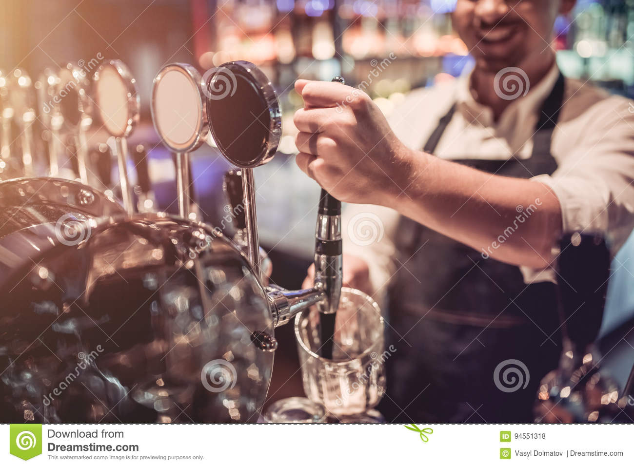 Barman in bar
