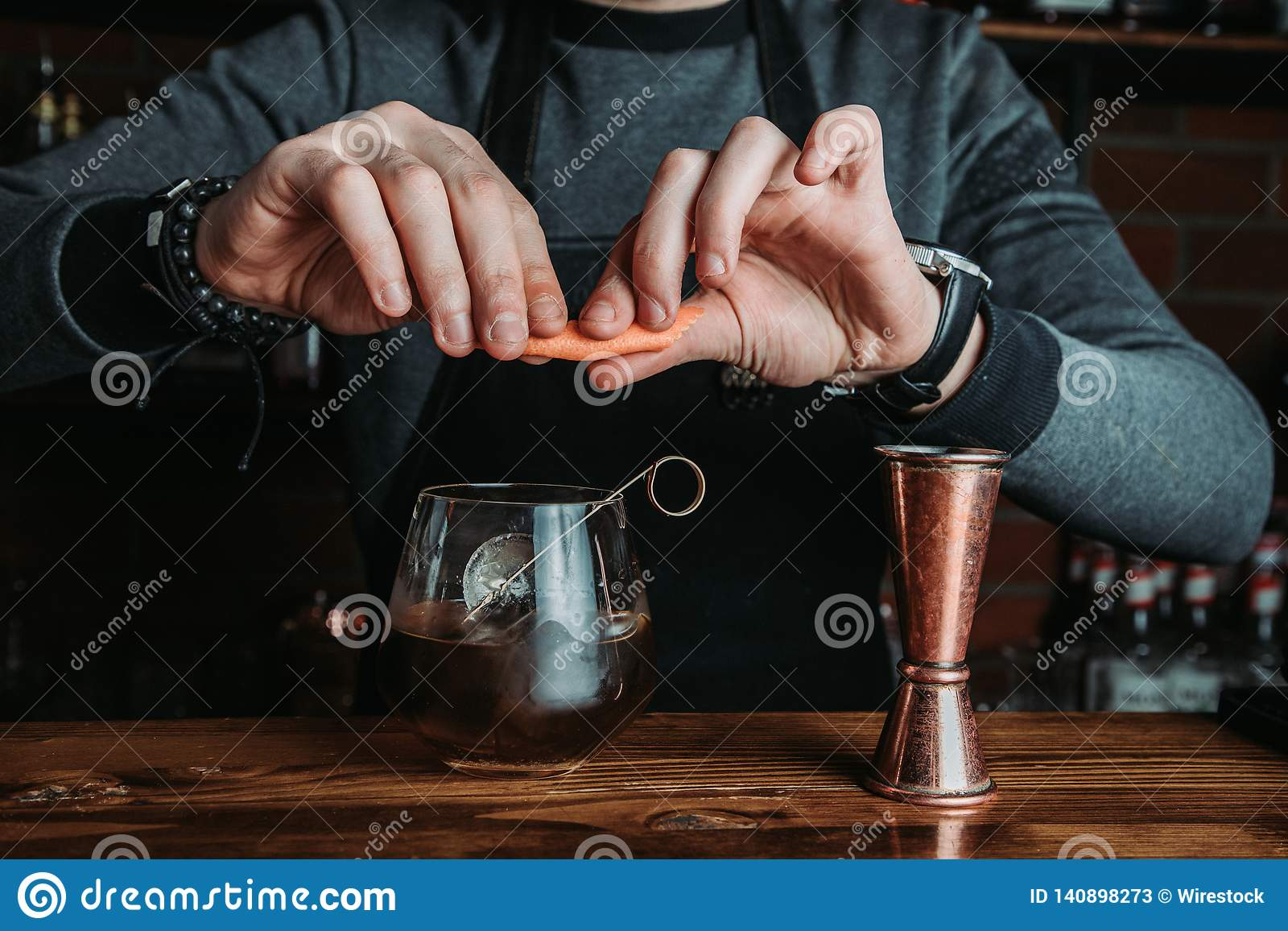 Barman with a cocktail