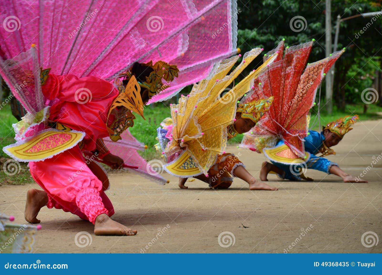Barn av Shan dem showkinnaridans för handelsresande