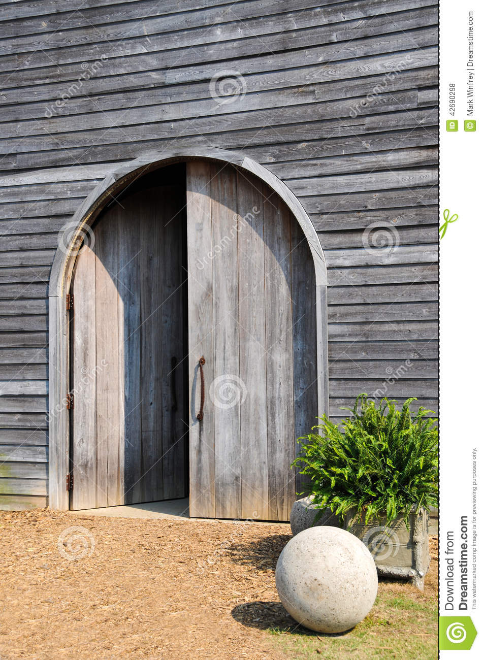 Barn Doors Stock Photo Image Of Gray Facade Farm