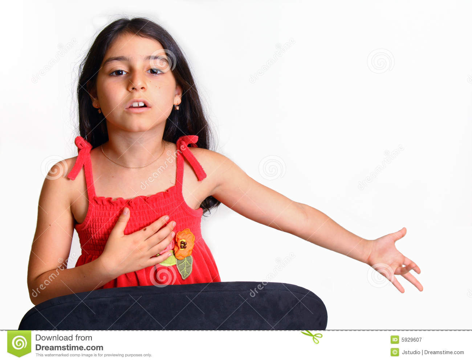 Barn för klänningflickared