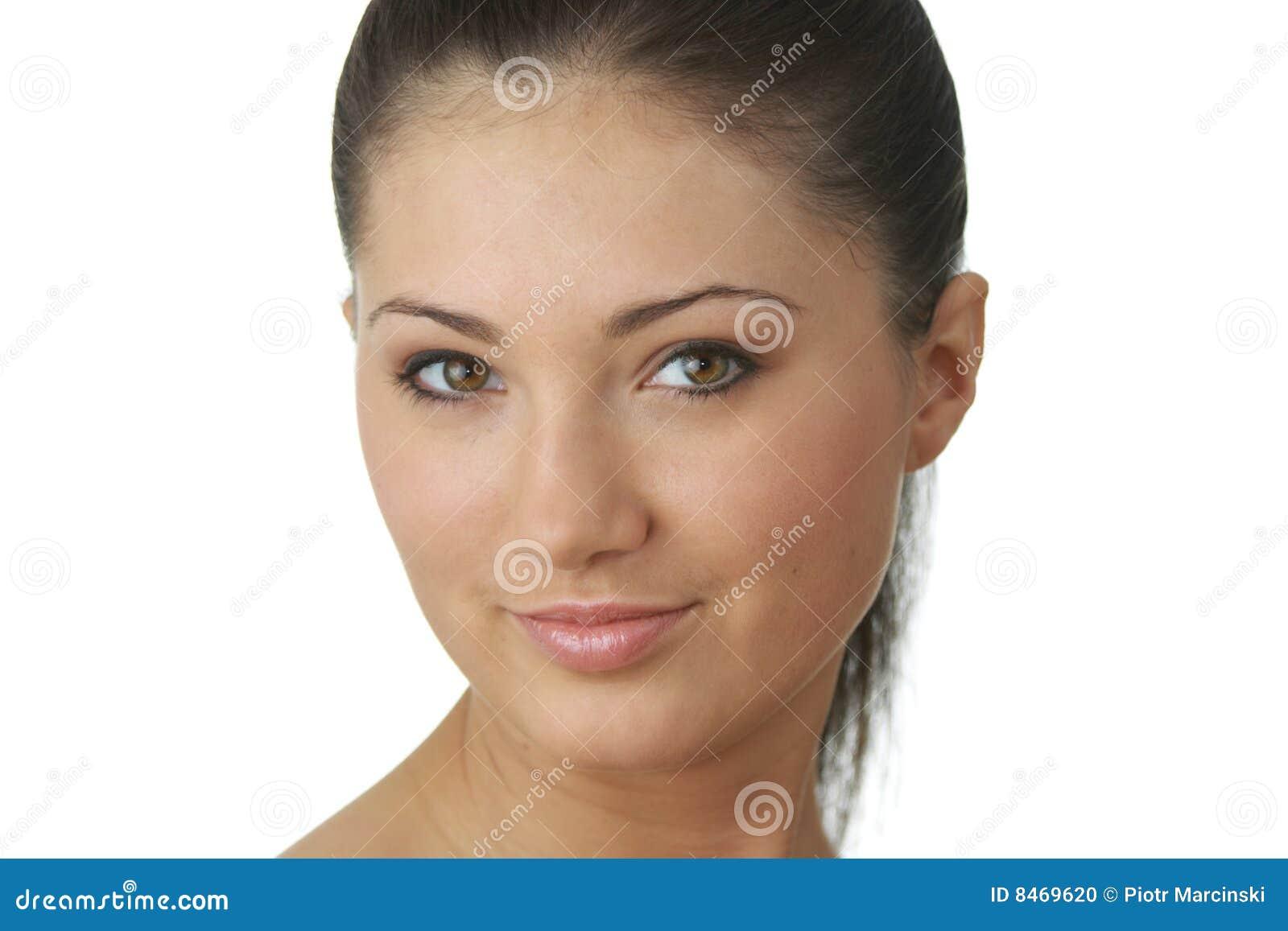 Barn för kvinna för hud för framsidahälsostående