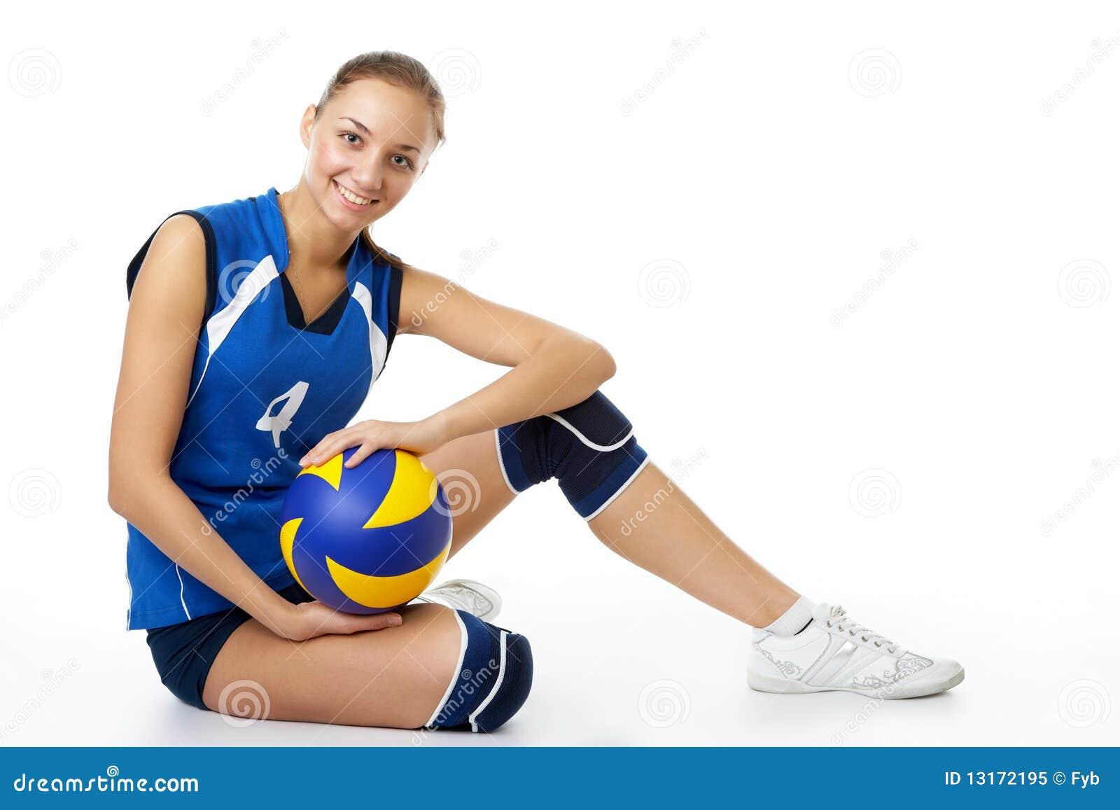 Barn för skönhetspelarevolleyboll