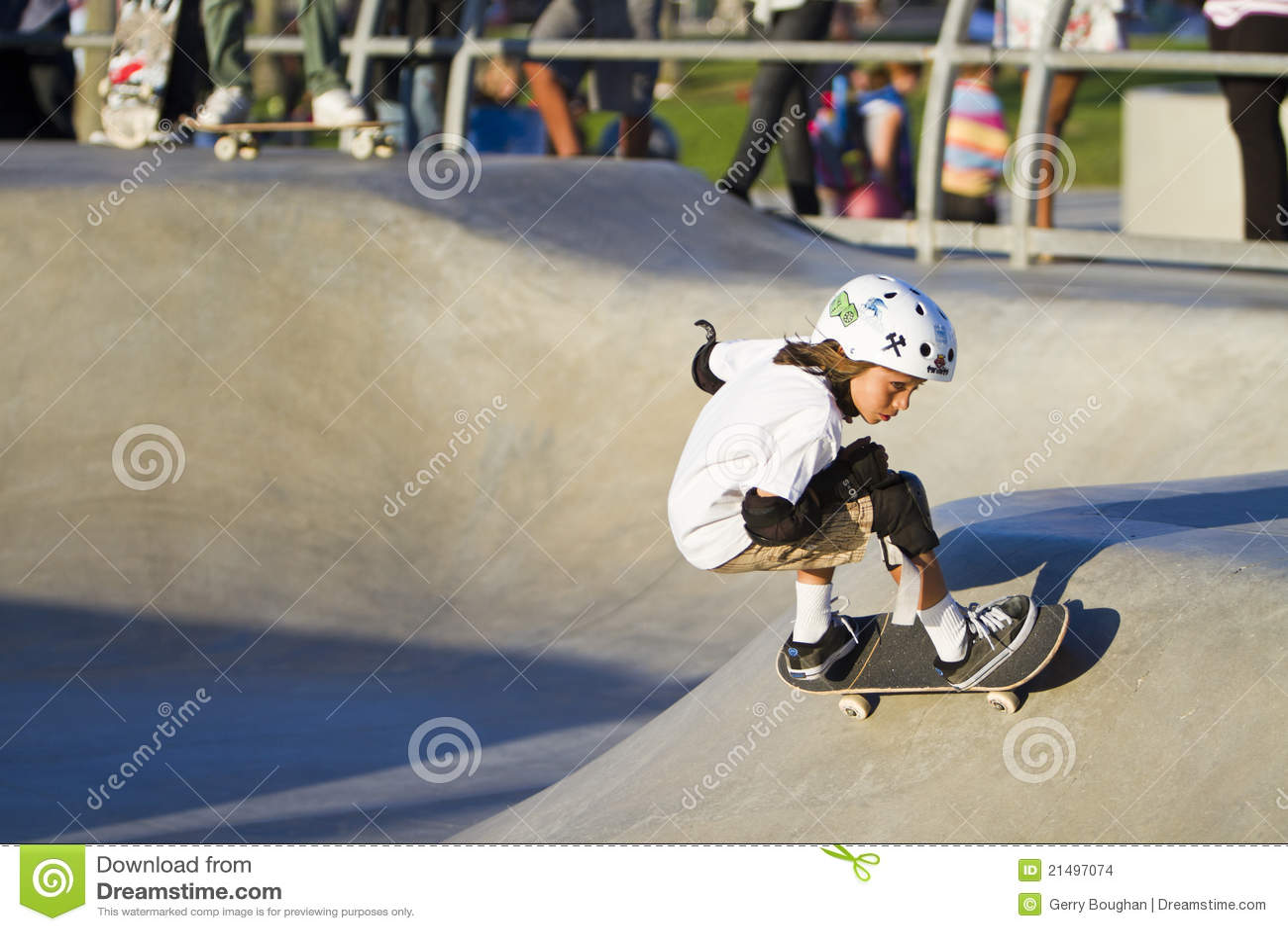 Barn för skateboard för flickapark utförande