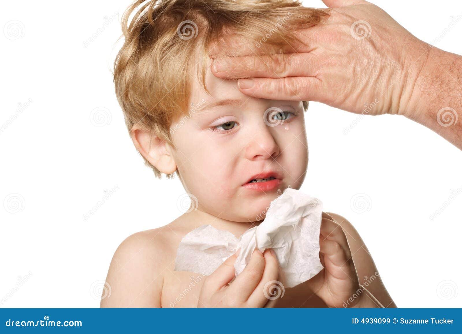 Barn hans sjuka avtorking för näsa