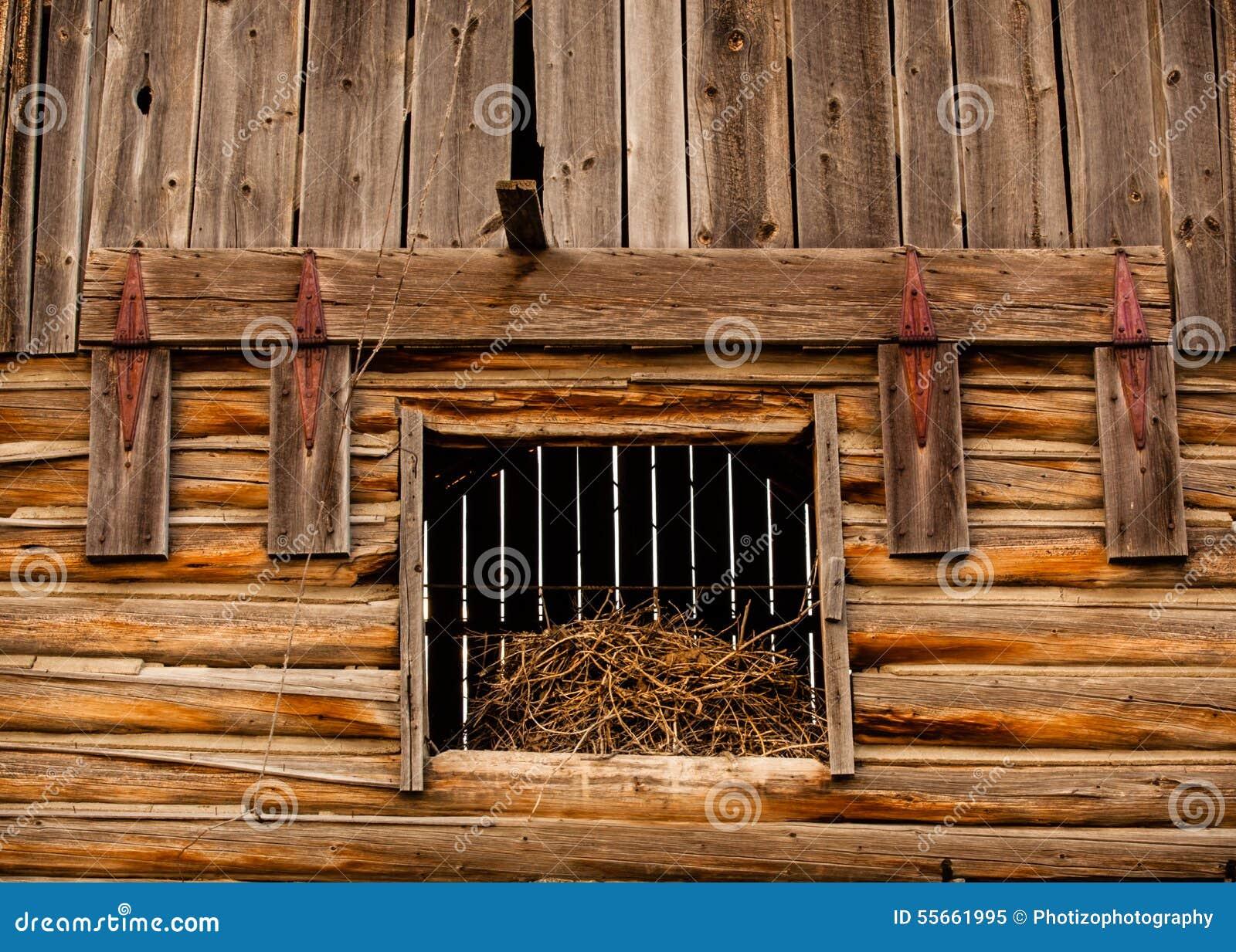 Barn hay loft door stock image image of worn wood for Barn loft doors