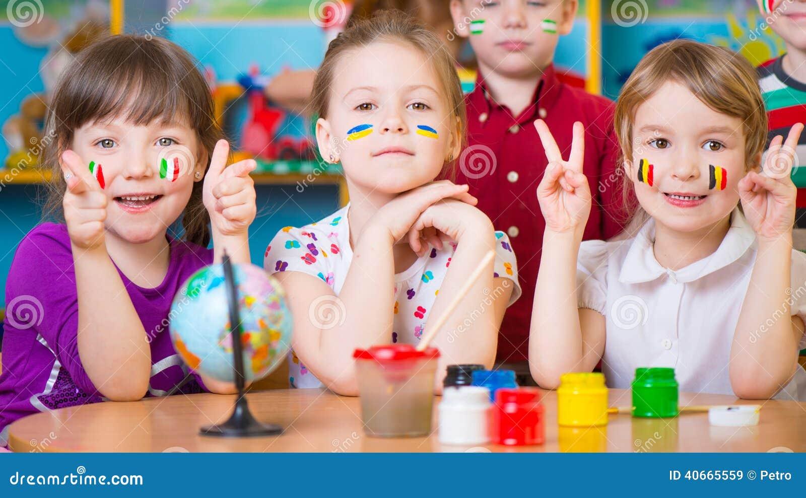 Barn i språkläger
