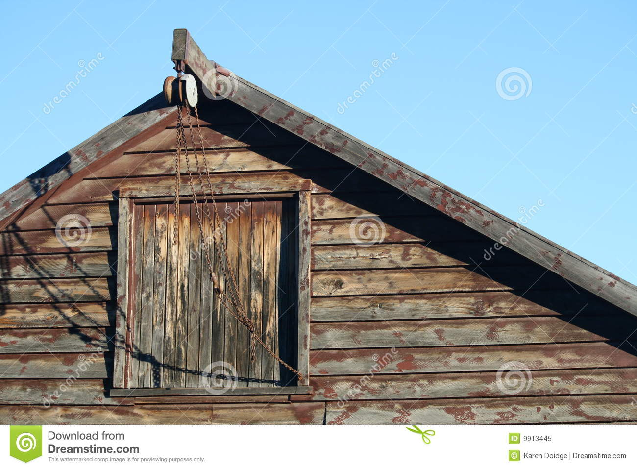 Barn Loft Amp Pulley Stock Image Image Of History Front
