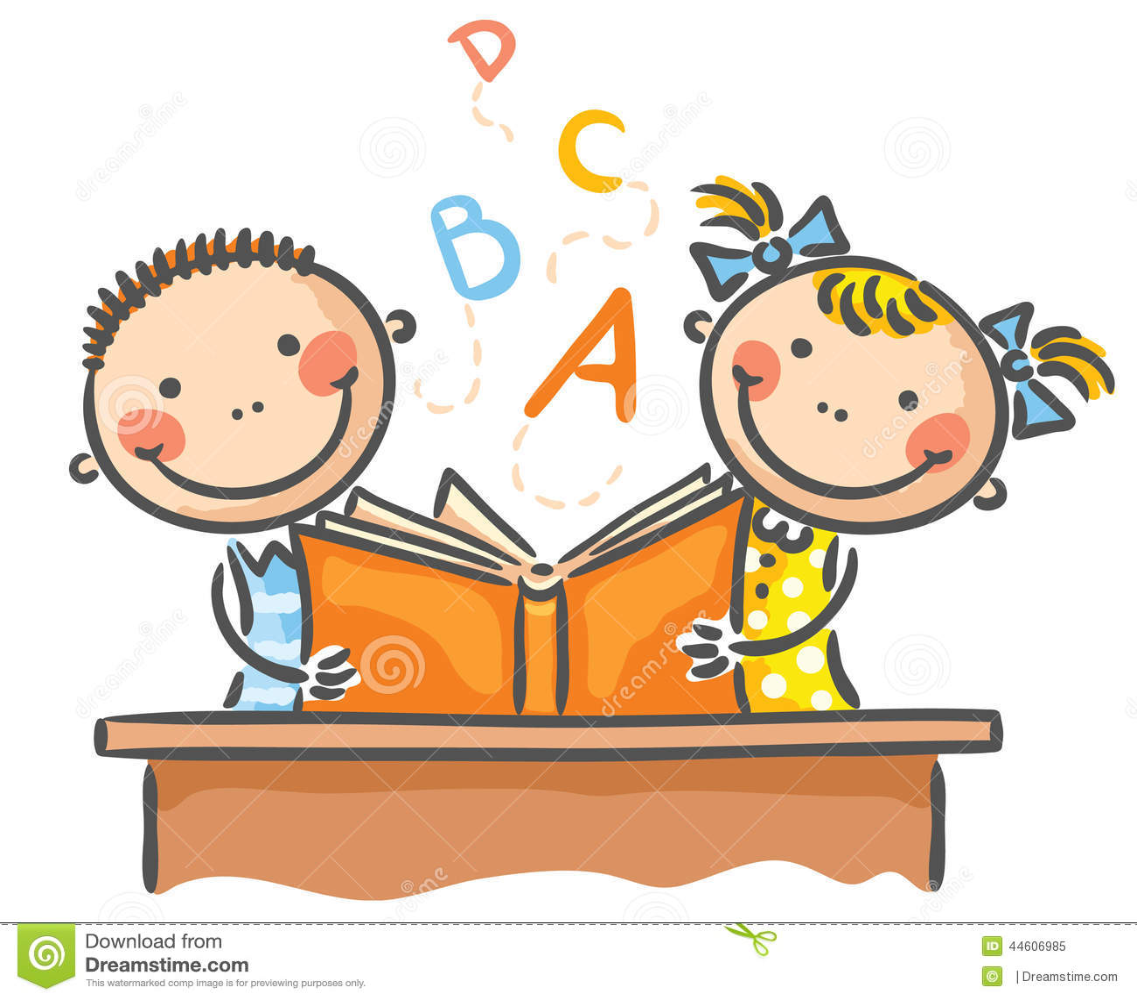 Barn med en bok