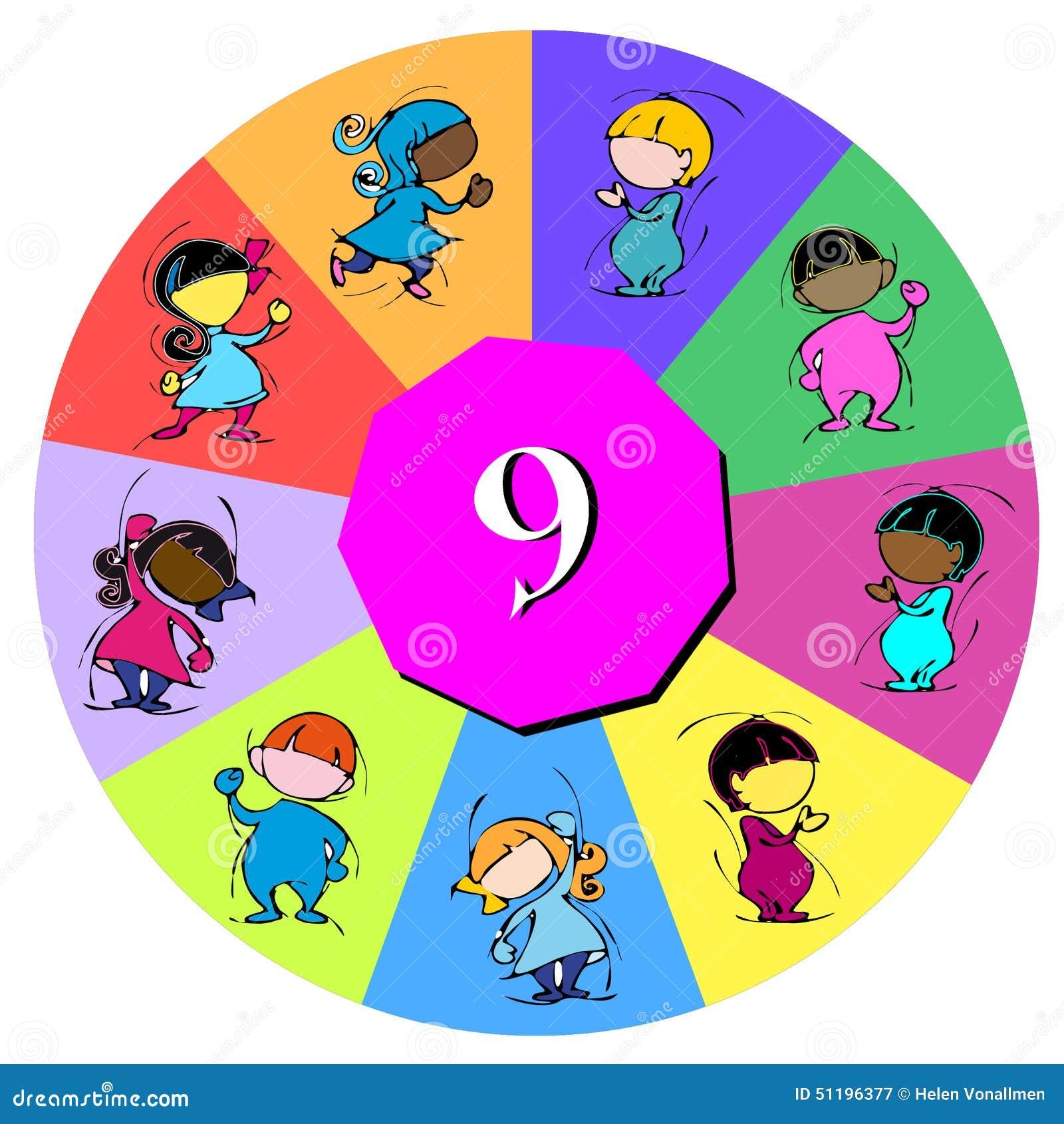 Barn med nummer nio