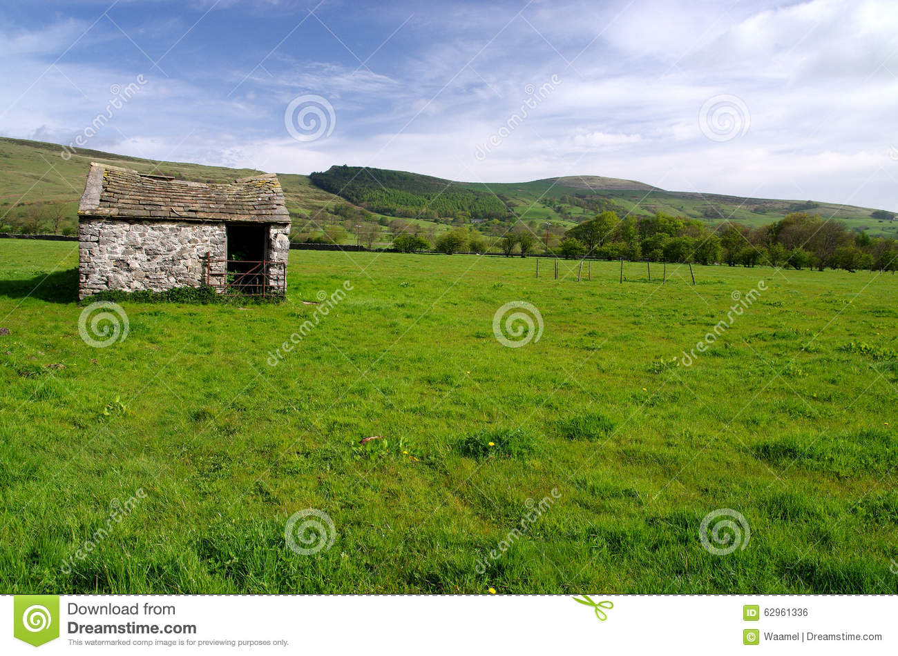 A Barn In The Peak District, England Stock Photo - Image ...
