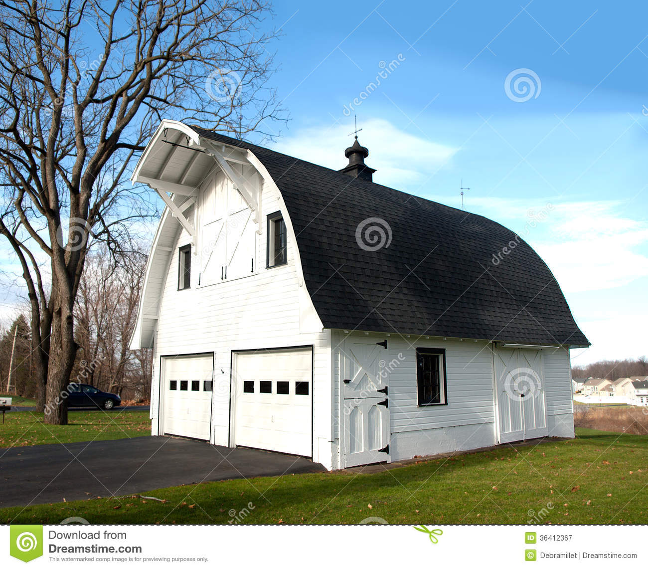 Barn shaped garage royalty free stock photography image for Barn shaped garage