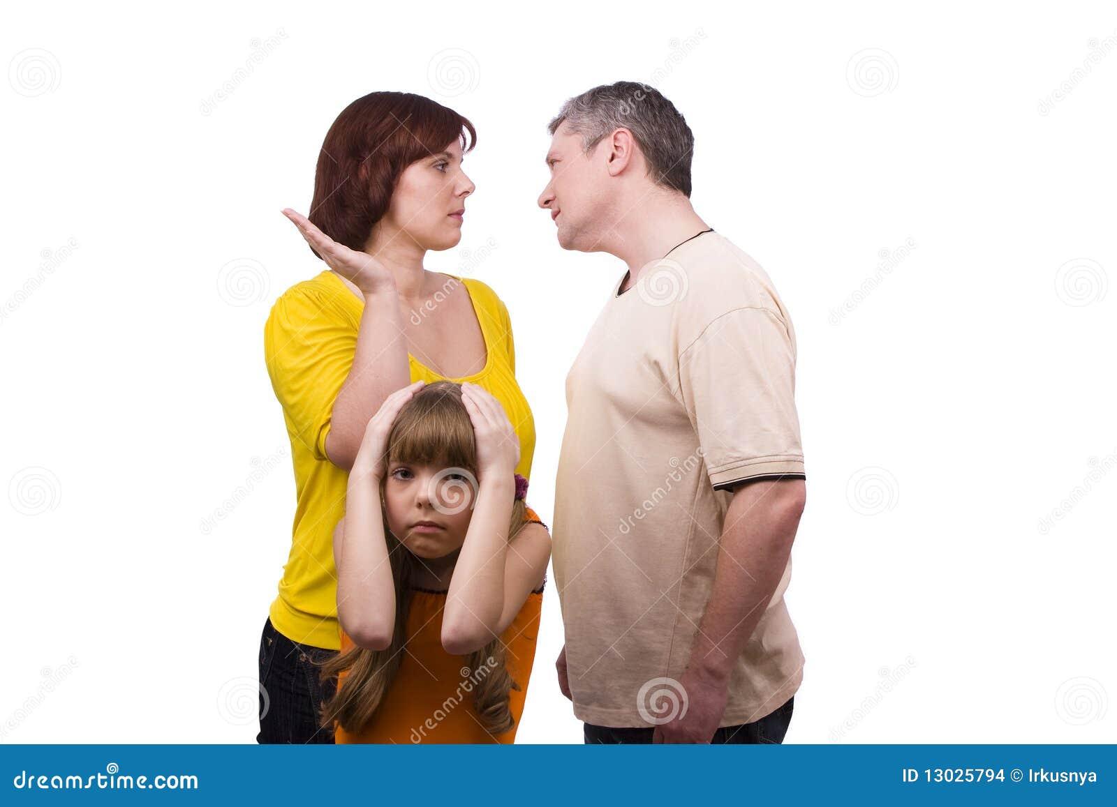 Barn som föräldrar lider, svär