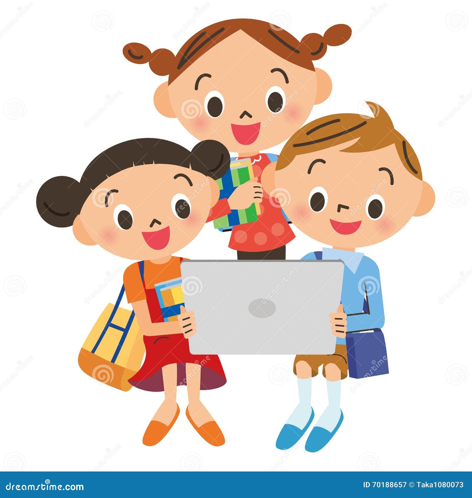 Barn som ser en minnestavla