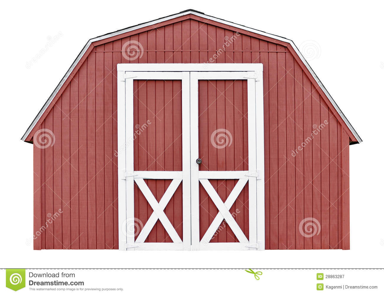 Barn Style Utility Tool Shed For Garden And Farm Equipment