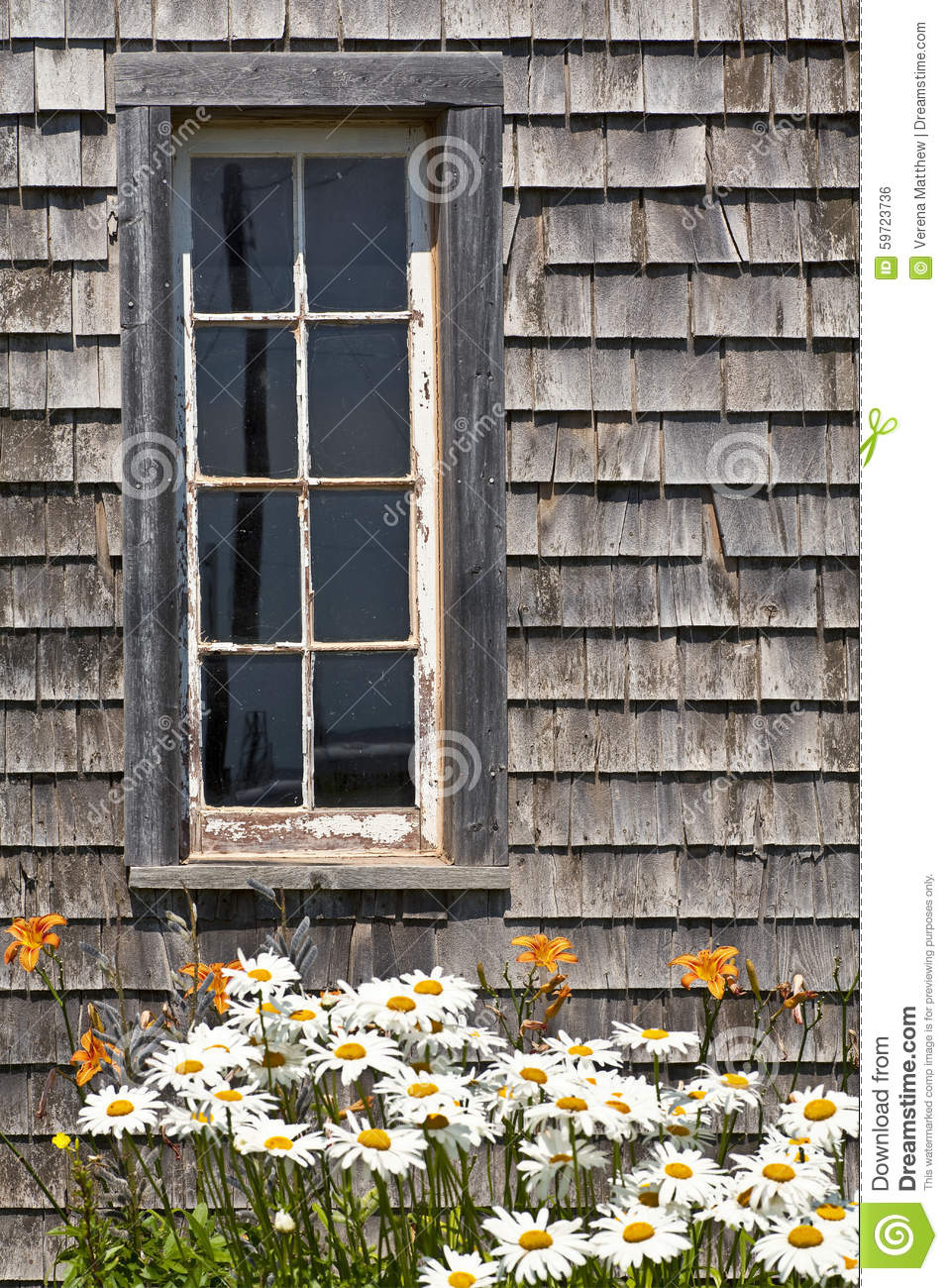 Barn Window Stock Photo Image Of Antique Flower Pane
