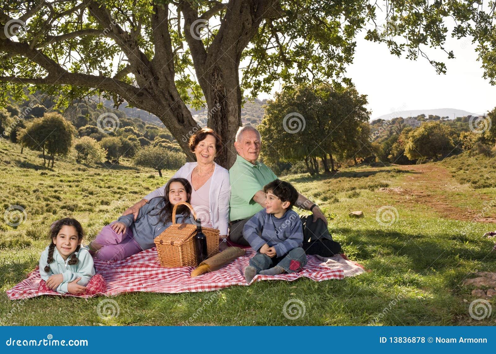 Barnbarnmorförälderpicknick